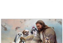 God-Surrounded-By-Shih-Tzu-Angel-Poster