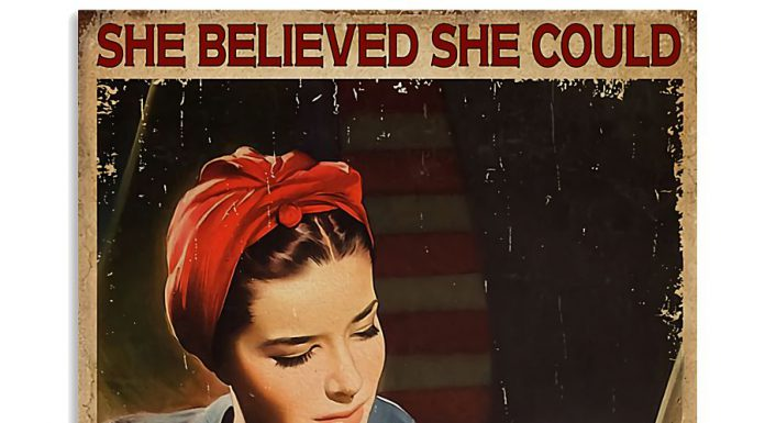 She-Believed-She-Could-So-She-Did-Electrician-Poster