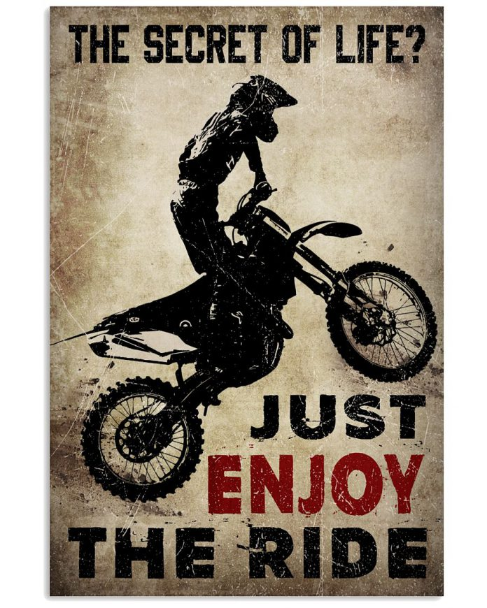 The-Secret-Of-Life-Just-Enjoy-The-Ride-Poster