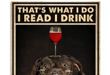 Bulldog That's What I Do I Read I Drink And I Know Things Poster