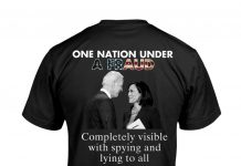 One Nation Under A Fraud Completely Visible With Spying And Lying To All Biden And Harris Shirt