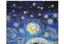 The Little Prince Starry Night art poster