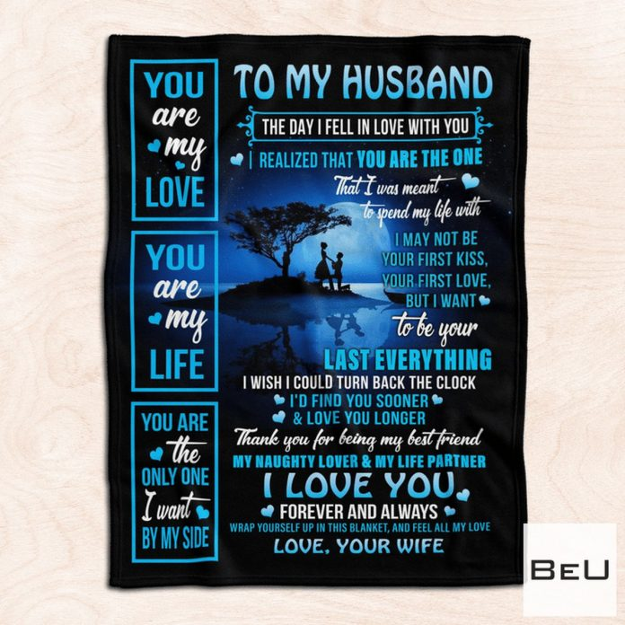 To My Husband Love Your Wife Blanket