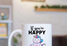 Unicorn If You Happy And You Know It Thank Your Meds Mug