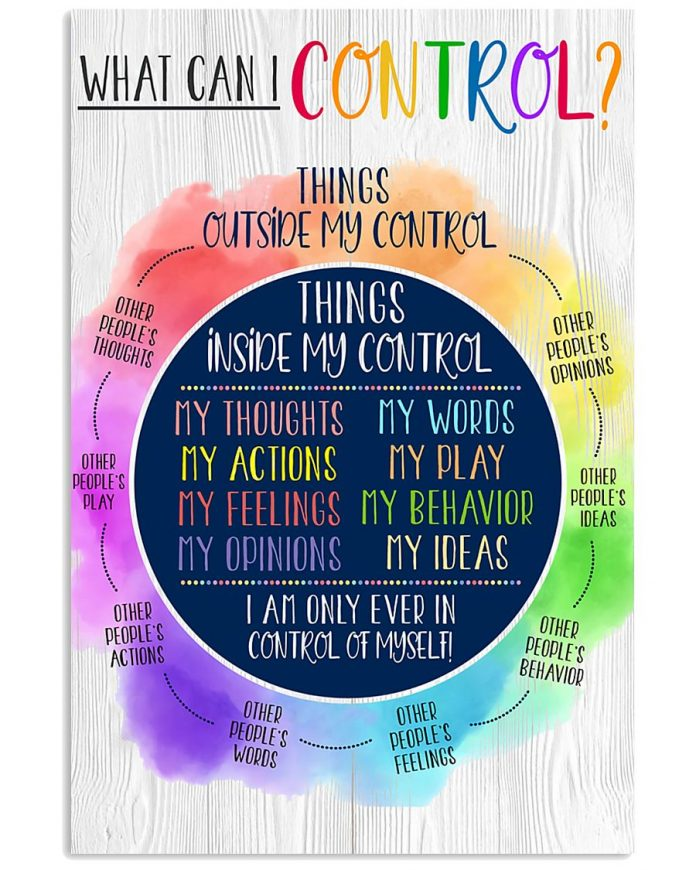 What Can I Control Things Outside My Control Poster