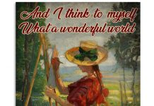 And I Think To Myself What A Wonderful World Poster