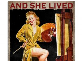 And She Lived Happily Ever After Painter Poster