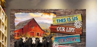 Beautiful Farm This Is Us Our Life Our Story Canvas