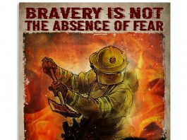 Bravery Is Not The Absence Of Fear But Action In The Face Of Fear Poster