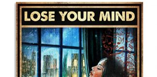 Girl And Vinyl Records Lose Your Mind Find Your Soul Poster