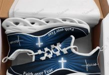 Jesus - Faith Over Fear Yeezy Blue Running Max Soul Shoes