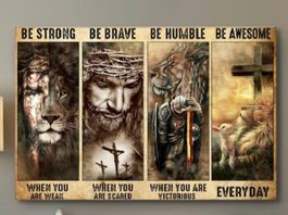 Judas Jesus Be Strong Be Brave Be Humble Be Awesome Canvas