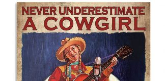 Never Underestimate A Cowgirl Who Loves Guitars Poster