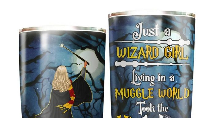 Personalized Witches Just A Wizard Girl Living In Muggle World Tumbler