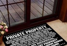 Private Property Now Get Off My Property Doormat