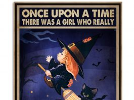 There Was A Girl Who Really Want To Become A Witch And Loved Cats Poster