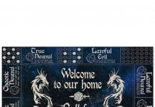 Welcome To Our Home Roll For Initiative Doormat
