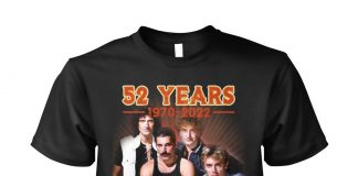 Queen Band 52 Years 1970-2022 Thank You For The Memories Shirt